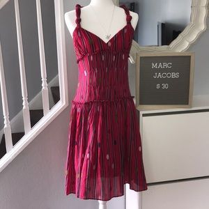 Marc Jacobs red sun dress size 6